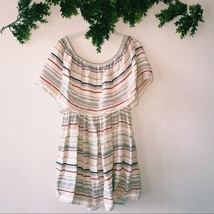 BP From Nordstrom Striped Off the Shoulder Dress M